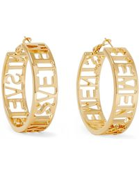 Vetements - Gold-plated Hoop Earrings - Lyst