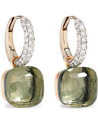 Pomellato - Nudo 18-karat White Gold, Prasiolite And Diamond Earrings - Lyst