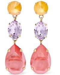 Roxanne Assoulin - Gold-tone Swarovski Crystal Clip Earrings - Lyst