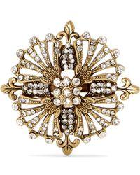 Etro - Gold-tone Crystal Brooch - Lyst