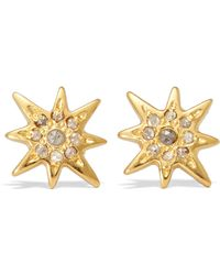 Chan Luu | Gold-plated Diamond Earrings | Lyst