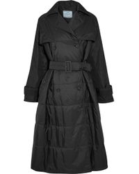 Prada | Oversized Double-breasted Quilted Shell Coat | Lyst