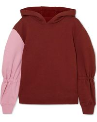 Tibi - Two-tone Cotton-jersey Hooded Sweatshirt - Lyst