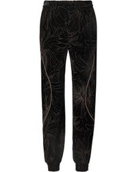 Chloé - Embellished Printed Velvet Track Pants - Lyst