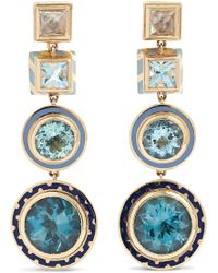 Alice Cicolini - Candy 14-karat Gold And Enamel Multi-stone Earrings - Lyst