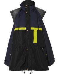 Balenciaga - Veste Oversize En Tissu Imperméable Et En Jean à Superpositions - Lyst