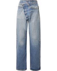 R13 - Crossover Asymmetric High-rise Straight-leg Jeans - Lyst