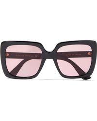 6c4d801f35580 Gucci - Oversized Crystal-embellished Square-frame Acetate Sunglasses - Lyst