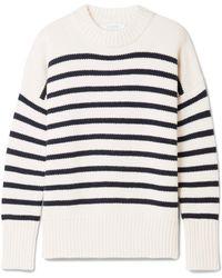 La Ligne - Marin Striped Wool And Cashmere-blend Jumper - Lyst