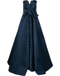 Alexis Mabille - Tie-detailed Faille Gown - Lyst