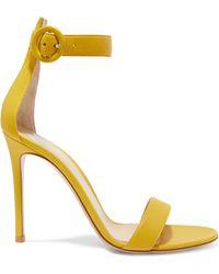 cb2172a5055b Lyst - Gianvito Rossi Portofino Leopard-print Calf Hair Sandals