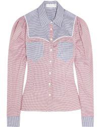 Caroline Constas - Clementine Cotton Shirt - Lyst