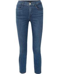 3x1 - Luna Mini Split High-rise Slim-leg Jeans - Lyst