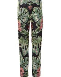 Richard Quinn - Embellished Twill Straight-leg Pants - Lyst