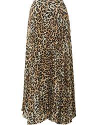 a5ed4137b Alice + Olivia - Katz Pleated Metallic Leopard-print Silk-blend Gauze Maxi  Skirt