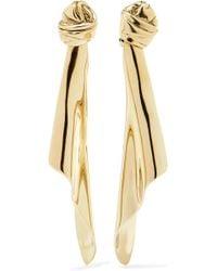 Saint Laurent - Gold-tone Clip Earrings - Lyst