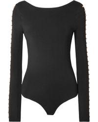 I.D Sarrieri - Faux Pearl-embellished Stretch Cotton-blend Jersey Bodysuit - Lyst
