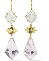 Marie-hélène De Taillac - 22-karat Gold Multi-stone Earrings - Lyst