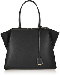 Fendi - 3Jours Medium Textured Leather Tote - Lyst