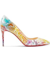 Christian Louboutin - Pigalle Follies 85 Printed Leather Pumps - Lyst