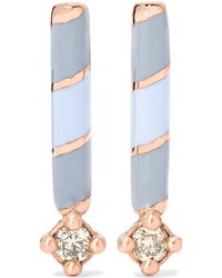 Alice Cicolini - Memphis Candy Enamelled 14-karat Gold Diamond Earrings - Lyst