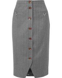 Altuzarra - Pinstriped Wool-blend Pencil Skirt - Lyst