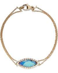 Kimberly Mcdonald - 18-karat Gold, Opal And Diamond Bracelet - Lyst