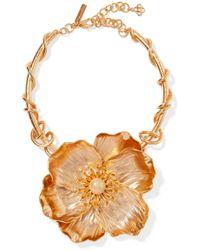 Oscar de la Renta - Poppy Gold-plated Necklace - Lyst