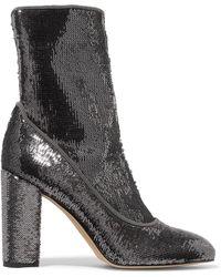 Sam Edelman - Calexa Sequined Stretch-twill Sock Boots - Lyst