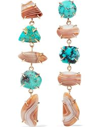 Melissa Joy Manning - 14-karat Gold, Agate And Turquoise Earrings - Lyst