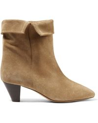 Isabel Marant | Dyna Suede Ankle Boots | Lyst