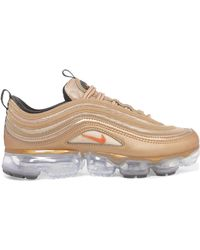 270d1675a4c Nike - Air Vapormax 97 Metallic Faux Leather And Mesh Trainers - Lyst