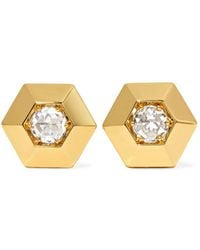 Fred Leighton - Collection 18-karat Gold Diamond Earrings - Lyst
