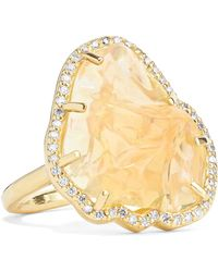Melissa Joy Manning - 18-karat Gold, Opal And Diamond Ring Gold 6 - Lyst
