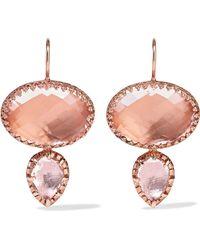 Larkspur & Hawk | Sadie Rose Gold-dipped Quartz Earrings | Lyst