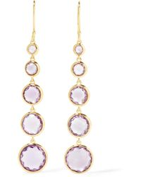 Ippolita - Rock Candy® Lollitini 18-karat Gold Amethyst Earrings - Lyst
