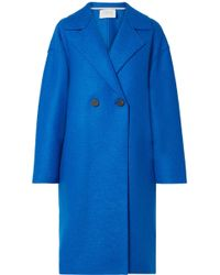 Harris Wharf London - Oversized Double-breasted Wool-felt Coat - Lyst