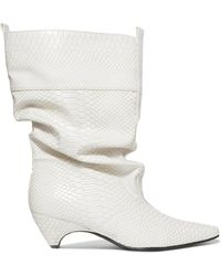 Stella McCartney | Snake-effect Faux Leather Boots | Lyst