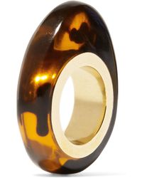 Dinosaur Designs - Gold-tone Tortoiseshell Resin Ring - Lyst