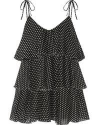 Lisa Marie Fernandez - Imaan Tiered Polka-dot Cotton-voile Mini Dress - Lyst