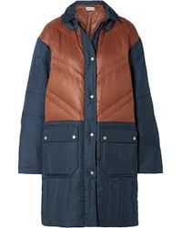 By Malene Birger - Dorav Quilted Shell-paneled Canvas Down Coat - Lyst