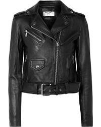 MICHAEL Michael Kors - Leather Biker Jacket - Lyst