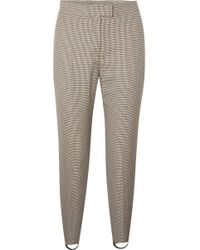 Burberry - Checked Wool-blend Slim-leg Stirrup Pants - Lyst