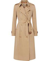 Burberry - Trench-coat En Gabardine De Coton The Chelsea Long - Lyst