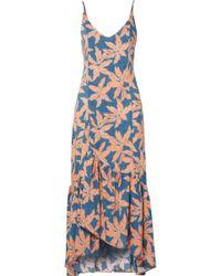 ViX - Margarita Elma Printed Voile Maxi Dress - Lyst
