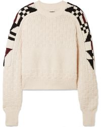 Isabel Marant - Laytonn Intarsia Cotton-blend Sweater - Lyst