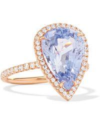 Anita Ko - 18-karat Rose Gold, Sapphire And Diamond Ring - Lyst