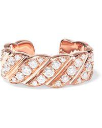Anita Ko - 18-karat Rose Gold Diamond Ear Cuff - Lyst