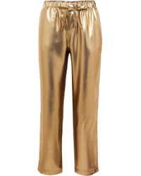 Sleepy Jones - Marina Lamé Pyjama Trousers - Lyst