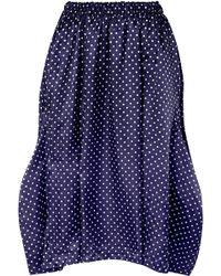 Comme des Garçons - Asymmetric Polka-dot Washed-satin Midi Skirt - Lyst